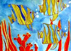 Under the Sea: Crayon Resist Drawing Lessons for Kids: KinderArt ®