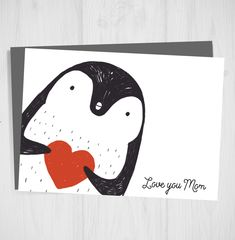 Excited to share the latest addition to my #etsy shop: Mothers Day Card,Printable Card, Penguin Card, Love you Mom, Happy Mothers day Card, Greeting Card, DIY Card,Card for Mum, Card for Mom, #papergoods #mothersday #black #mothersdaycard #printablecard #penguincard #loveyoumom #greetingcard