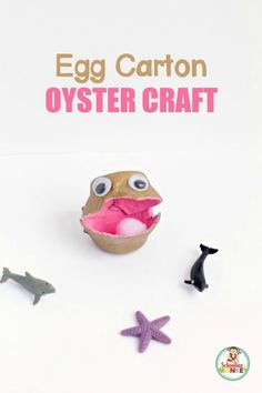 OceanReady, Easy Egg Carton Oyster Craft for Kids! is part of Kids Crafts Ocean Egg Cartons - This super fun ocean craft is the perfect summer activity for kids! This egg carton oyster craft for kids is simple to make, and super adorable! Summer Crafts For Toddlers, Summer Activities For Kids, Crafts For Kids To Make, Toddler Crafts, Easy Crafts, Arts And Crafts, Kids Crafts, Paper Crafts, Ocean Activities
