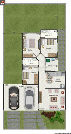 Casa 2 Quartos - 93.74m²
