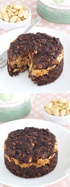 Buckeye Brownie Baked Oatmeal | The Breakfast Drama Queen