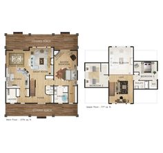 Beaver Homes and Cottages   petit soleil   House Plans   Pinterest    This is my dream house on Quirke or Dunlop  Main floor master and two bedrooms for guests on the second floor  Perfect