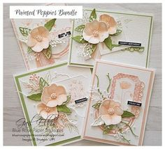 Hello again my friends Today it's all about the Stampin' Up! Painted Poppies bundle - gorgeous stamps and dies. Pink Poppies, Poppy Flowers, Yellow Roses, Purple Flowers, Pink Roses, Poppy Cards, One Sheet Wonder, Stamping Up Cards, Scrapbook Supplies