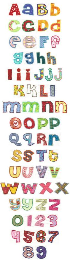 Embroidery | Free Machine Embroidery Designs | Cheri Applique Alphabet