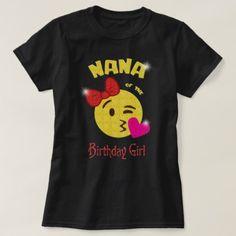 #party - #Nana of the Birthday Girl Emoji Birthday Party T-Shirt