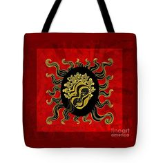 God Tote Bag featuring the photograph My Little Golden God With Red by Nareeta Martin