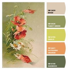 Paint colors from Chip It! by Sherwin-Williams. ChipCard by Reni Apostolova. - Interior Design Tips and Home Decoration Trends - Home Decor Ideas - Interior design tips Paint Color Schemes, Colour Pallette, Color Palate, Color Combos, Paint Colors, Wall Colors, Pantone, Color Me Beautiful, Design Seeds