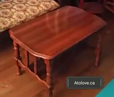 Diy accent table / coffee table before