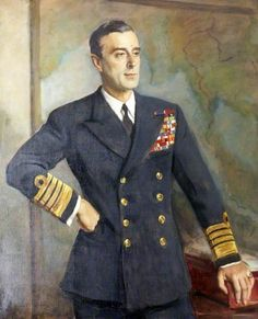 Admiral of the Fleet the Earl of Mountbatten (1900–1979) - Oswald Homby Joseph Birley 1947