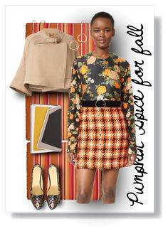 """""""Mixed Patterns in Pumpkin Spice"""" by fernshadowstudio-com ❤ liked on Polyvore featuring Improvements, Chloé, MSGM, âme moi and Vero Moda"""