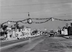 City of Granada Hills Chatsworth St. looking east from Zelzah Ave in Granada Hills. Circa 1956.