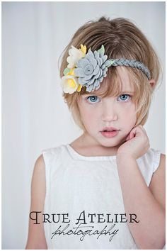 Love the grey and yellow! That braided headband is so cute and different!