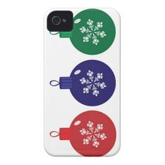 Christmas Baubles iPhone 4 Case #Christmas #Case #Mobile #iPhone