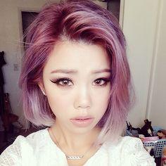 lavender bob haircut