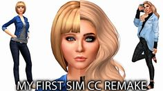 The Sims 4 Create A Sim; _My First Sim CC Revamped_ + Links