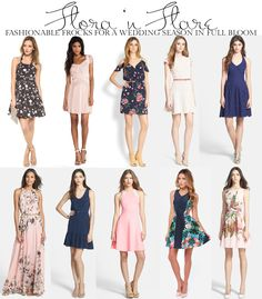 Lovely fit 'n flare dresses perfect for spring weddings