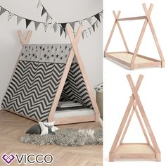 Teepee Tent Bed Frame Wooden Children Cabin Bed Kids Sigle Bed Tipi Bedstead New : Picture 2 of 10 A Frame Tent, Bed Frame, Cabin Beds For Kids, Teepee Bed, Cat Teepee, Cat Hammock, Diy Tent, Kids Tents, Teen Bedding