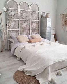 Using room dividers as headboards Bedroom decor Pinterest