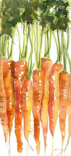 Carrot Bunch Art Blenda Studio by Blenda Studio - Carrot Bunch Art Blenda Studio Painting - Carrot Bunch Art Blenda Studio Fine Art Prints and Posters for Sale