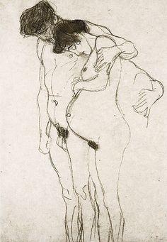 so lovely - Gustav Klimt, Pregnant Woman and Man