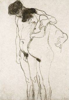 Gustav Klimt, Pregnant Woman and Man