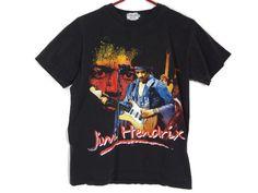 Vintage Jimi Hendrix T-Shirt - Medium - Double Sided - Rock Shirt - Band Tee - Vintage Tee - Electric Guitar - JIMI - Woodstock - by BLACKMAGIKA on Etsy