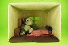 Shoebox Crafts : DIY  Make a Home for Your Pet Stuffed Monkey