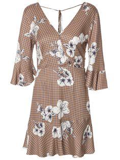 Vestido Est Flor do Campo - Maria Filó - Marrom - Shop2gether