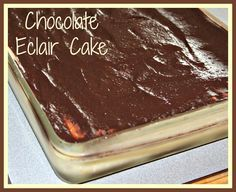 Chocolate Eclair Cake  (Weight Watchers) on MyRecipeMagic.com