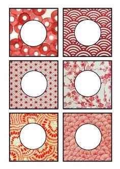 """Planche n°2 - Carrés et cercles """"rouges"""""""