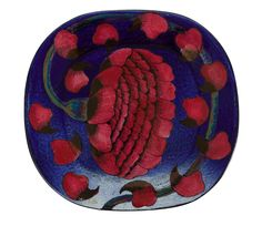 Birger Kaipiainen Platters designed with flowers & fruit in high relief by the Finn, who worked at Arabia (tableware) for fifty years. Clay Plates, Ceramic Plates, Pottery Plates, Pottery Vase, Clay Bowl, Mid Century Art, Plant Illustration, Vintage Pottery, Ceramic Artists