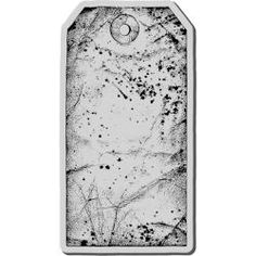 Stampendous Cling Rubber Stamp-Large Tag $6.99 unfortunately out of stock at the moment