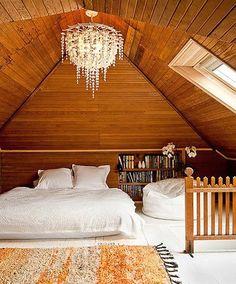 Gorgeous attic.