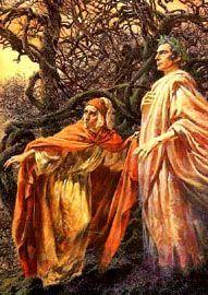 """Dante Alighieri - Divina Commedia - Inferno I, 85  """"Tu se' lo mio maestro e 'l mio autore"""""""
