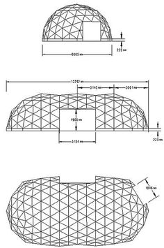 6m wide geodesic tunnel plans