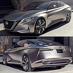 """Nissan Vmotion 2.0 Concept 2017 Carro-conceito revelado em Detroit que assinala a direção que a empresa dará para o design de seus futuros sedãs e para a tecnologia de Mobilidade Inteligente. Combinando um senso aguçado de estilo design emocional espaço interno conforto e tecnologia o objetivo é proporcionar uma experiência de mobilidade mais suave para os profissionais dinâmicos e em constante movimento.  A dianteira exibe o conceito Vmotion 2.0 uma evolução da assinatura """"V-motion""""…"""