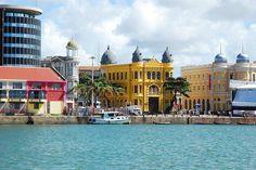 """Visão do """"Bairro do Recife Antigo"""", próximo ao famoso """"Marco Zero"""", onde tudo de Festejos acontece! Recife, Estado de Pernambuco. Brasil."""