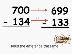Subtracting with Zeros - a super easy tip you must teach!