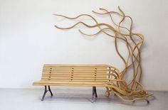 Working with both metal and wood, artist Pablo Reinoso creates seating that puts the FUN in fun-ctional.  Pablo Reinoso - Art - Spaghetti Bench
