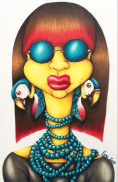 La señora de los guacamayos #ilustración #art #drawing #myartstyle Tigger, Parrot, Drawing, Disney Characters, Fictional Characters, Lady, Colors, Parrot Bird, Parrots