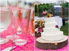 Custom wedding glass favors. Delfosse Vineyards & Winery Virginia Wedding. Laura's Focus Photography.