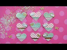 Diy Embellishments: Mini Fringe Hearts - Build Your Stash #11 - YouTube Scrapbook Paper Crafts, Diy Scrapbook, Scrapbooking Ideas, Candy Cards, Paper Candy, Scrapbook Embellishments, Homemade Cards, Flower Patterns, Card Making