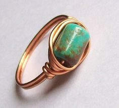 Wire-Wrapped Bead Ring. Call That Creative.