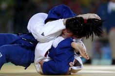 Sevinch Salaeva of Uzbekistan and Priscilla Gagne of Canada compete during the women's 52 kg bronze medal match on Day 1 of the Rio 2016 Paralympic Games at Carioca Arena 3 on September 8, 2016 in Rio de Janeiro, Brazil.