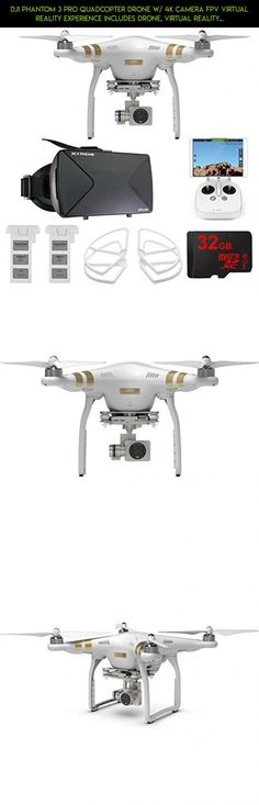 DJI Phantom 3 Pro Quadcopter Drone w/ 4K Camera FPV Virtual Reality Experience includes Drone, Virtual Reality Viewer, Intelligent Flight Battery, Propeller Guards and 32GB microSDHC Memory Card #plans #kit #technology #fpv #drone #racing #4 #phantom #dji #parts #shopping #camera #pro #tech #gadgets #products #vr