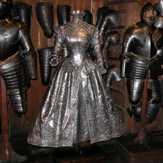 Armored Dress - this must have weighed a ton! Forget running away...you just had to stand there and hope the dress worked!