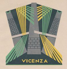 Illustration for the municipal coat of arms of the Vicenza province. By Fortunato Depero Vintage Advertisements, Vintage Ads, Italian Futurism, Vintage Italian Posters, Futurism Art, Mosaic Birdbath, Vintage Italy, Advertising Poster, Military Art