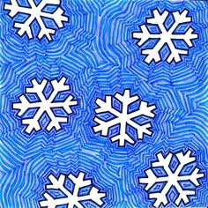 snowflake art... did they use stencils? - good idea for older kids if we watch frozen