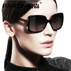 Parzin 2014 Vintage Sunglasses Polarized Women Sunglasses Star Style Womens Sun Glasses With Box Black  9257