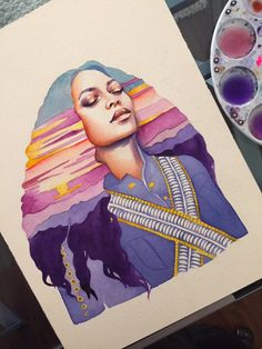 Beyonce Illustration Artist: Stella Blu bystellablu.com/